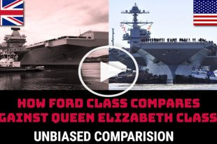 USS Gerald R Ford vs HMS Queen Elizabeth Aircraft carrier