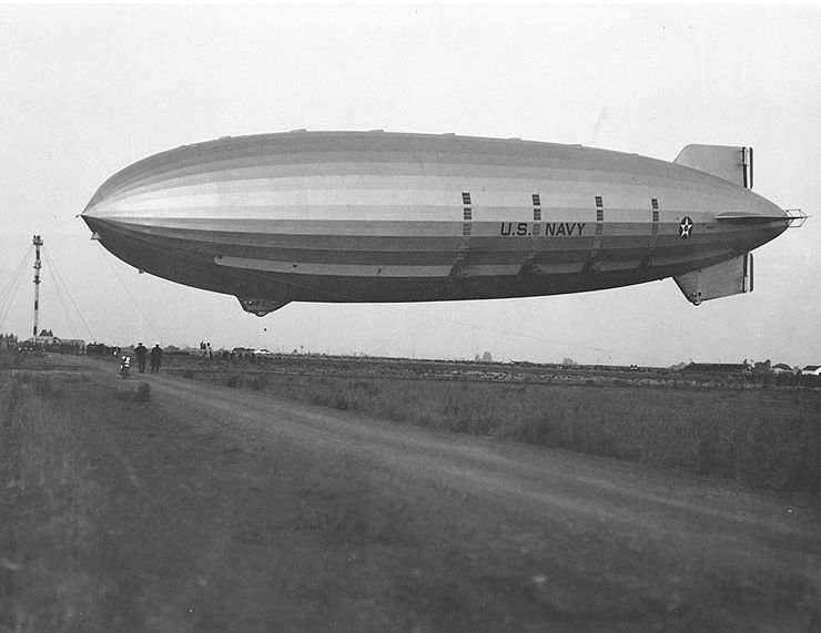 USS Akron airship.