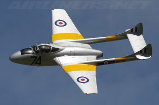 de Havilland Vampire jet fighter
