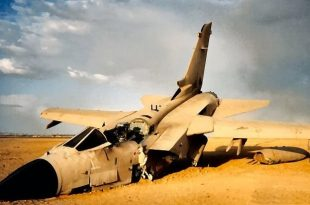 Saudi Air Force Tornado jet Crashes in southern Asir region