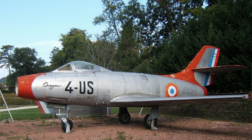 "Dassault MD450 ""Ouragan""fighter-bomber jet"