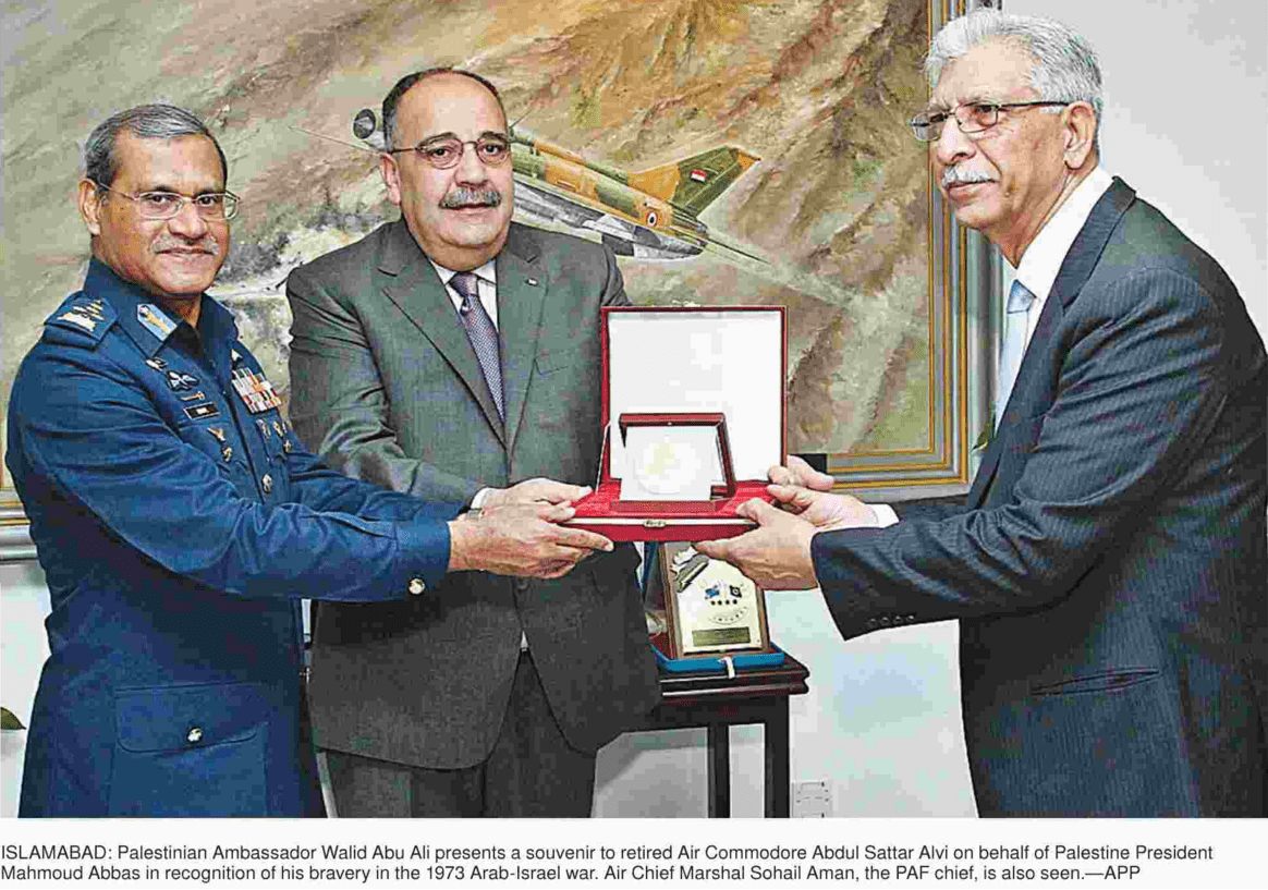 After the engagements, Flight Lieutenant Captain Sattar Alvi and Shahbaz formation leader Squadron Leader Major Arif Manzoor were awarded two of Syria's highest decorations for gallantry, the Wisaam Faris and Wisaam Shuja'at in 1973 by the President of Syria Hafez al-Assad in a public ceremony.