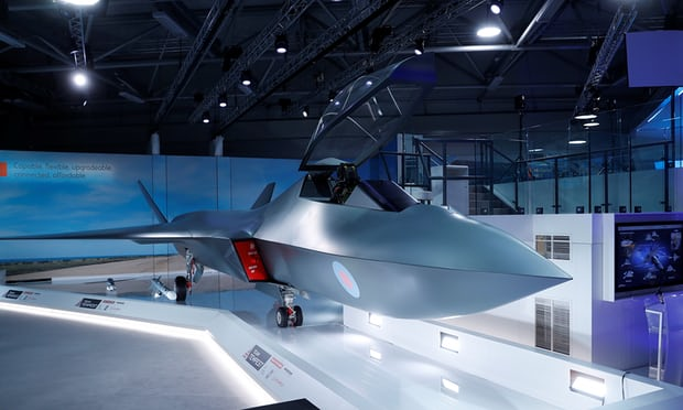 """UK unveils new Sixth-generation """"Tempest"""" fighter jet model at Farnborough airshow"""