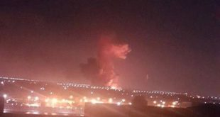 Huge explosion in fuel tanks outside the Cairo airport in Egypt