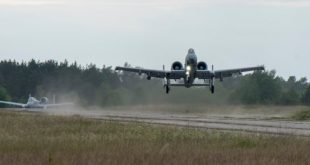 A-10 Warthogs Landing On Abandoned Runway During Exercise
