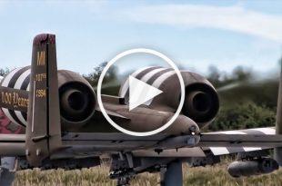 A-10 Warthogs Landing On Abandoned Runway