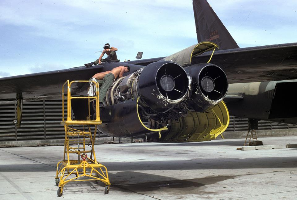 The story of the B-52 that landed with two engines