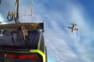 Behind the scenes video of Fast And Furious 7 Skydiving Car Scene from C-130 cargo plane