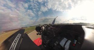 F-16 Crazy Cockpit Video With a 360-degree Camera With 4K Spherical Stabilization