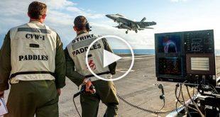 Video of F-18 Hornet Carrier Landings Via 'Magic Carpet'