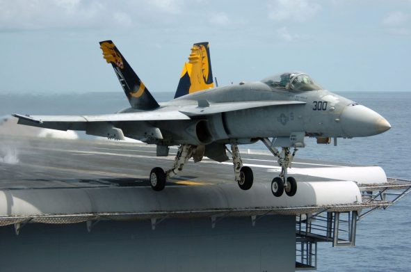 Boeing tested e F/A 18 Super Hornet on Indian aircraft carrier