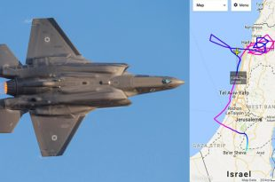 Israeli's F-35 Stealth Aircraft appeared On Flight Tracking Website for about 1 hour