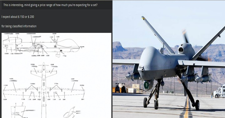 Hackers attempting to sell MQ-9 Reaper docs for 200$ on dark web