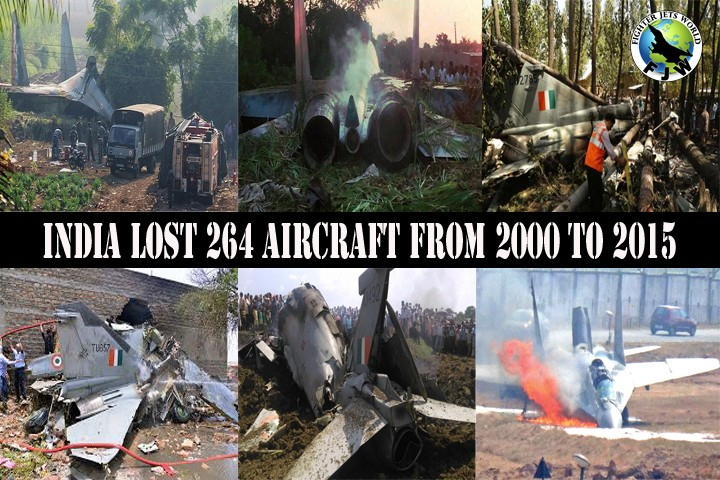 According to Bharat rakshak IAF Aircraft Accidents Database In last 86 years IAF has losta total of 1707 Aircraft during combat and crashed incidents