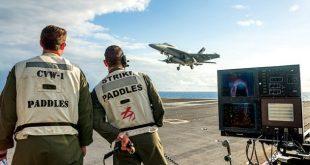 Watch: F/A-18E/F Super Hornet pilots landing on the USS Washington Via 'Magic Carpet'