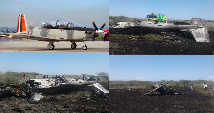 Mexican Air Force T-6C Texan II aircraft crashed in the southern state of Oaxaca