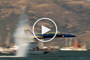 Best Video of US Navy Blue Angels - Flyby and Sneaky Low Passes