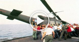 US sailors pushed helicopters off their ships