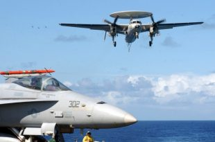 When US Navy F/A-18C Hornet was ordered to gun down an E-2C Hawkeye