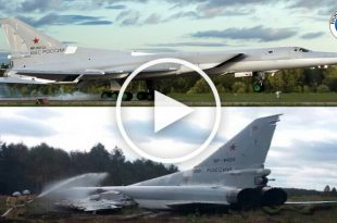 Video of RUSSIAN Tu-22M3 BACKFIRE Runway Overshoot During Aborted Take-off
