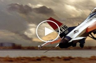 Video of YF-16 First Unintentional Flight that lead to First Mishap