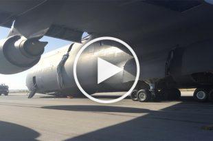 Videos of C-5 Galaxy Nose Gear Up / Belly landing