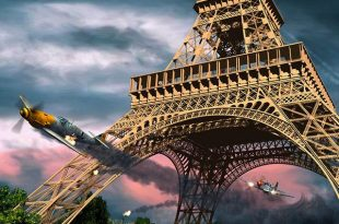 "William Bruce ""Bill"" Overstreet Jr. solo pursuit underneath the arches of Eiffel Tower"