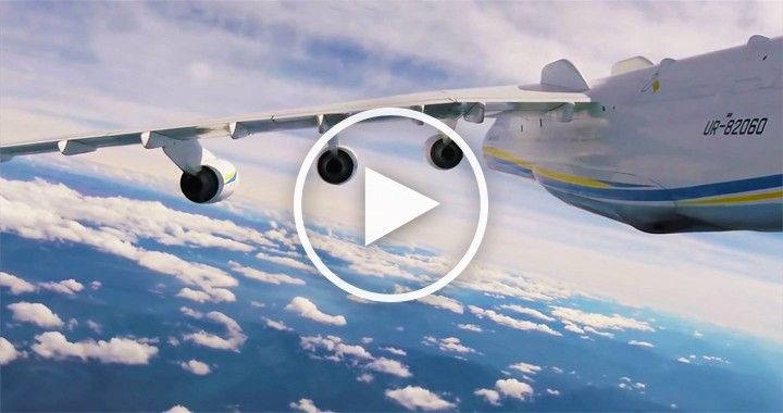 Take An Amazing Flight On The Tail Of The An-225 Mriya