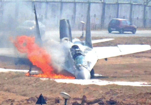 Videos of MiG-29 Catches Fire on Takeoff