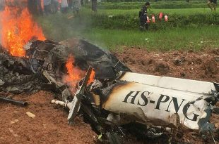 Four Dead in a Eurocopter AS355 Écureuil 2 helicopter crash in Khon Kaen