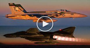 """Top Gun Parody: Iranian F-4E Phantom """"intercepting"""" U.S. F/A-18E Super Hornet"""