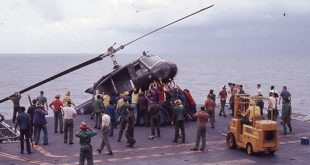 That Time US sailors pushed helicopters off their ships