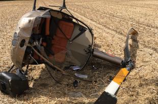 Helicopter crash near Becksford, Tewkesbury