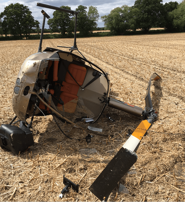 Helicopter crash near Becksford, Tewkesbury