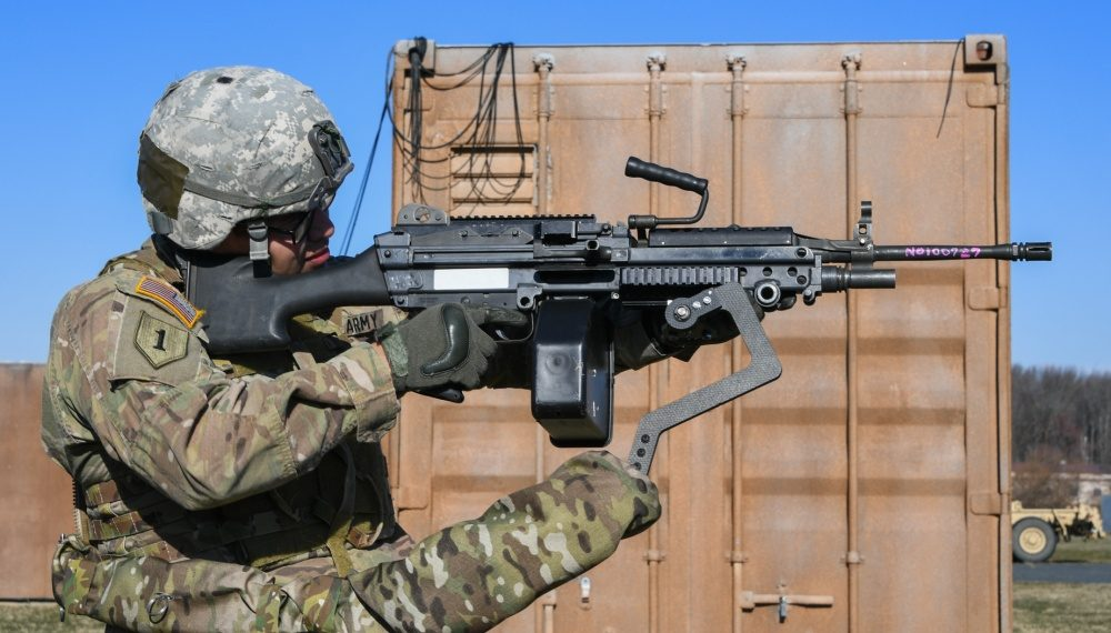 A mechanical third arm for U.S. soldiers