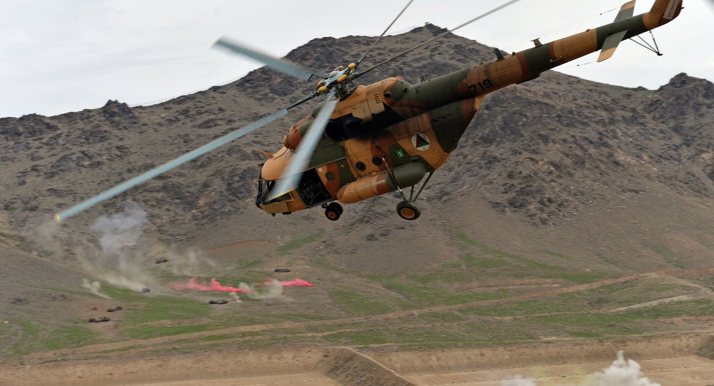 Afghan National Army Helicopter emergency landing, pilot injured