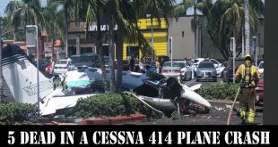 5 dead in a Cessna 414 plane crash in Santa Ana parking lot
