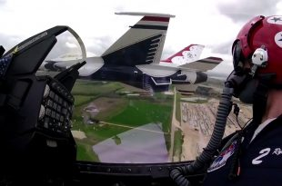 Breathtaking Cockpit View Video of USAF Thunderbirds Flying in Close Formation