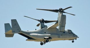 Marine Corps Bell Boeing MV-22B Osprey Emergency landing near Amami Airport