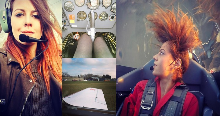 Stunning Videos of Female stunt pilot Amelie Windel In Extra 300 aerobatic plane