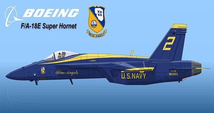 Boeing to upgrade U.S. Navy's Blue Angels fleet to Super Hornets