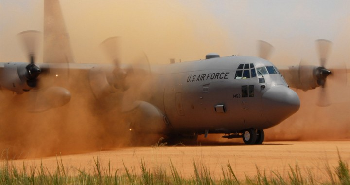 Watch: C-130 Hercules Performs Tactical Landing On Dirt Strip And Grass Runway