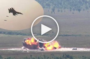 Video of F-16 Fighter jets hit camera in firing range during Gun Runs