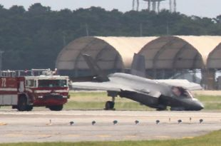 F-35A Emergency Landing after Nose Gear Collapses At Eglin Air Force Base