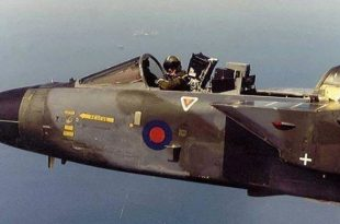 Pilot Keith Hartley Flying Panavia Tornado with the canopy off at 500 knots