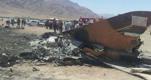 IRAN F-5 Fighter jet crash in Dezful