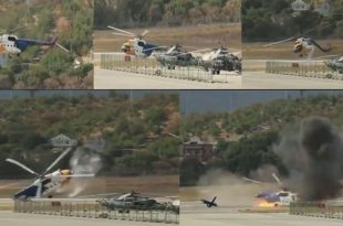 Watch: Mi-8 helicopter crash during air show in Russia