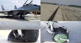 See what happened when MiG-29 wheel brake anti-skid controls fail