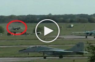 Video of Mig-29 Fulcrum runway overrun