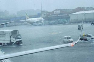 Stunning Video of Mumbai Airport During yesterday Rain